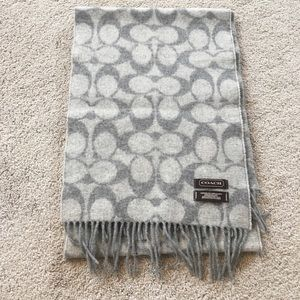 Gray Wool Coach Scarf